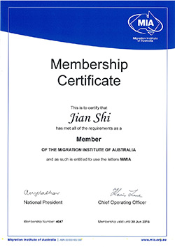 MIA-Certificate